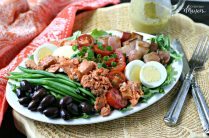Low Carb Salmon Nicoise Salad from www.EverydayMaven.com