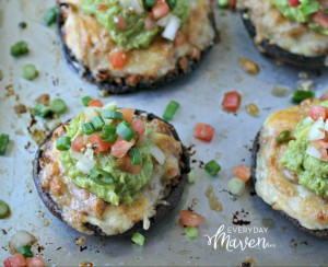 Taco Stuffed Portabello Mushrooms from www.EverydayMaven.com