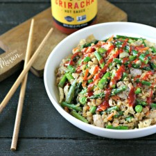 Chicken and Asparagus Cauliflower Fried Rice