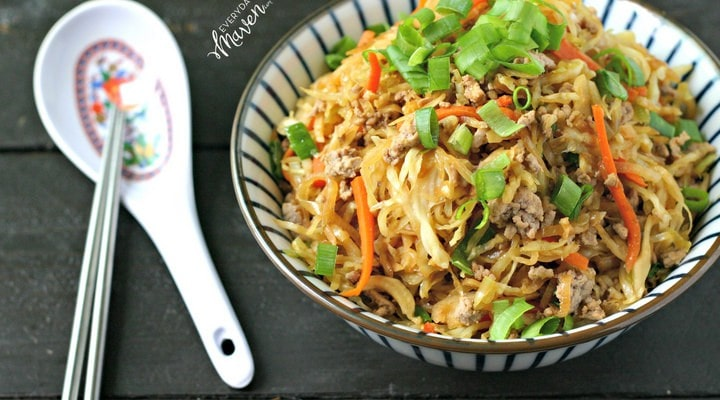 Spiralized Chinese Egg Roll in a Bowl