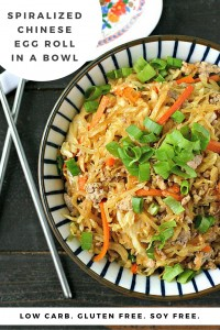 Spiralized Chinese Egg Roll in a Bowl from www.EverydayMaven.com