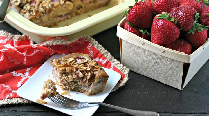 Strawberry Almond Coffee Cake {Grain Free, Refined Sugar Free}