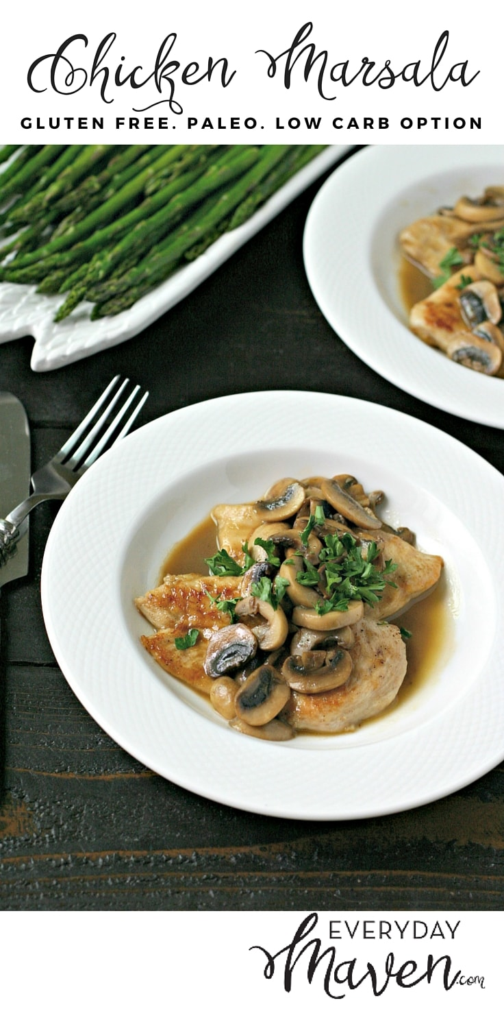 Gluten Free Chicken Marsala. A well-loved classic made grain and gluten free. Plus, a low-carb option. It doesn't get easier!