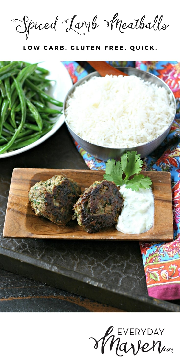 Spiced Lamb Meatballs with Tzatziki that are easy to make and loaded with flavor. Serve over a salad, rice or even as a delicious sandwich.