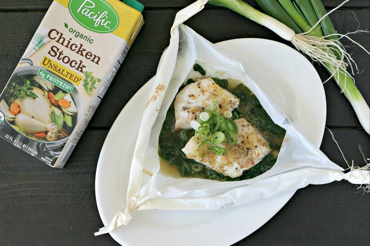 Sesame Cod en Papillote with Ginger and Scallions from www.EverydayMaven.com