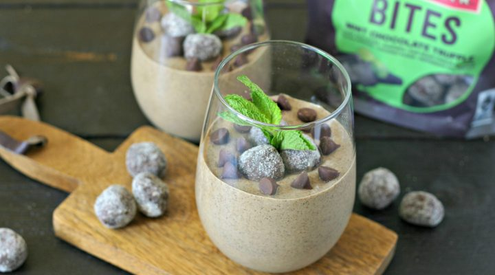 Mint Chocolate Chip Chia Seed Pudding