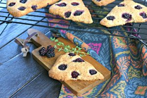 Blackberry Thyme Scones | Grain, Gluten and Dairy Free