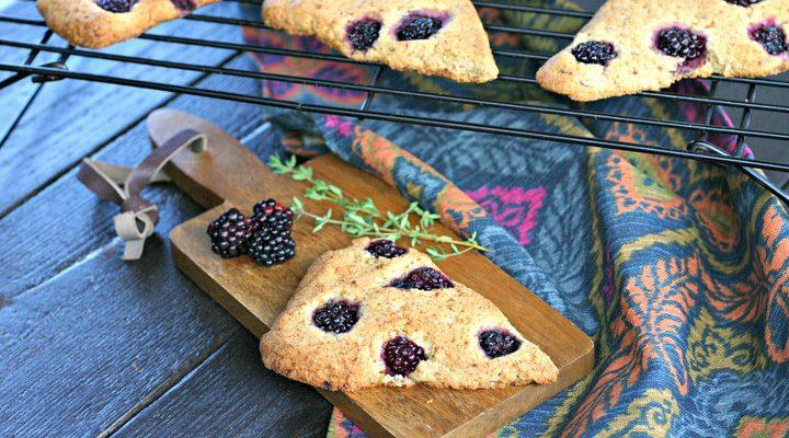 Blackberry Thyme Scones | Grain, Gluten and Dairy Free