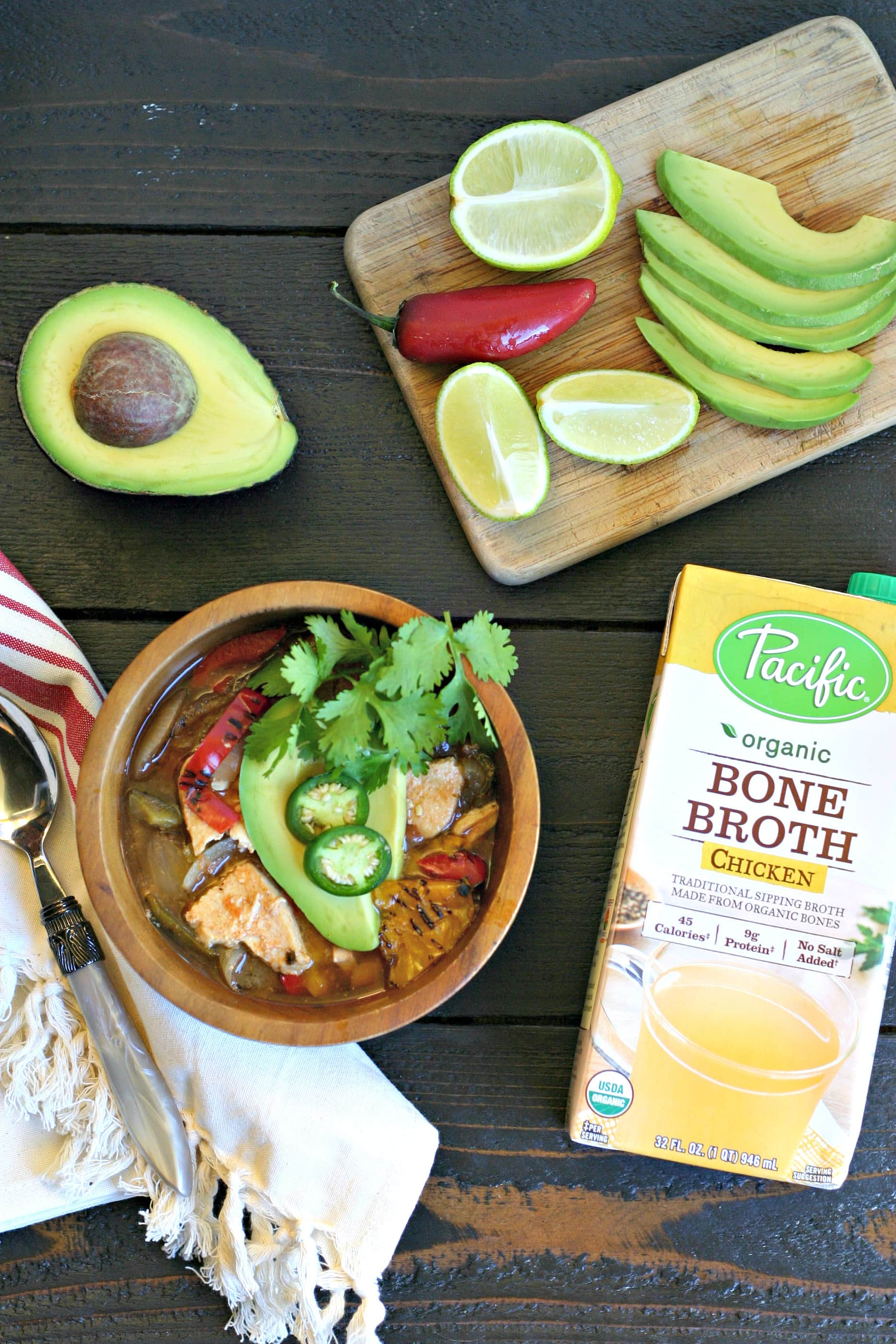 Slow Cooker Chicken Fajita Soup from www.EverydayMaven.com