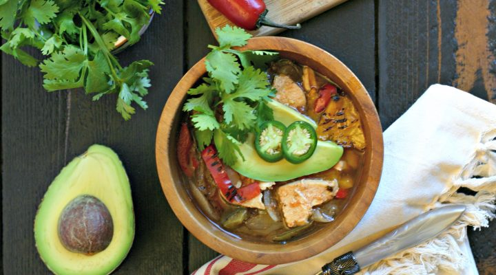 Slow Cooker Chicken Fajita Soup