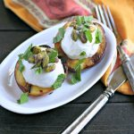 Grilled Nectarines with Greek Yogurt, Pistachios and Mint from www.EverydayMaven.com