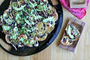 Grilled Vegetarian Nachos