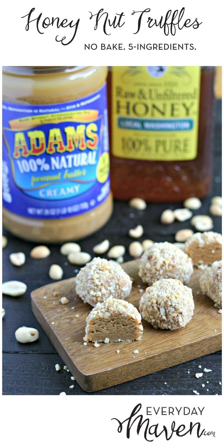 These 5-Ingredient No-Bake Honey Nut Truffles are the perfect little treat to have on hand for anytime you want a healthy sweet treat!