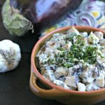 Lebanese Style Eggplant with Yogurt from www.EverydayMaven.com