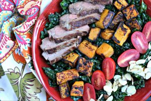 Autumn Steak Salad with Kale