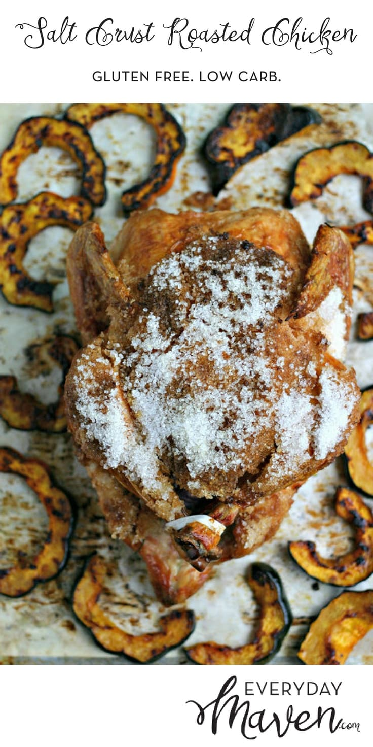 Salt Crust Roasted Chicken Recipe. An easy and flavorful way to roast a whole chicken that stays juicy and looks beautiful on the table!