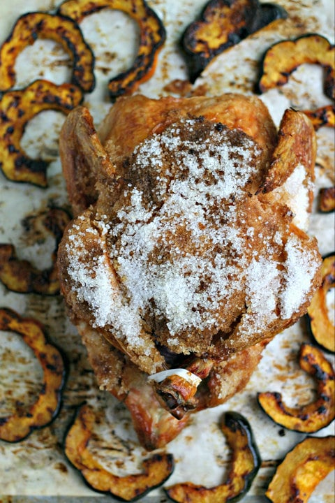 Salt crusted roast chicken recipe