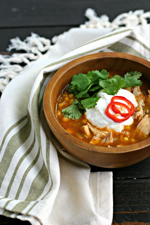 White Turkey Chili with Corn from www.EverydayMaven.com