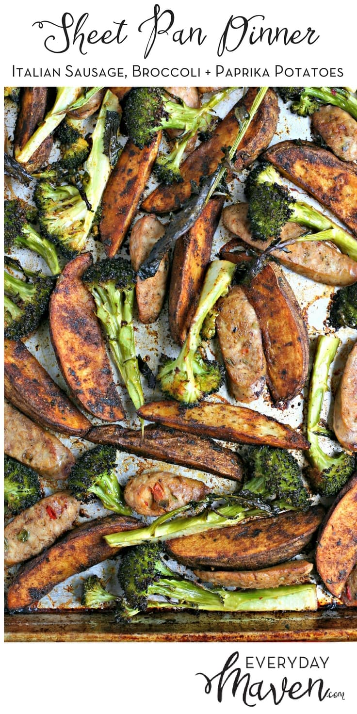 My Italian Sausage Broccoli & Paprika Potato Sheet Pan Dinner is not only easy but loaded with flavor.