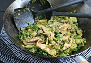 Chicken and Brussels Sprouts Stir-Fry from www.EverydayMaven.com
