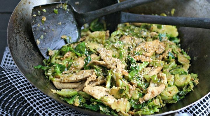 Chicken and Brussels Sprouts Stir-Fry