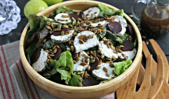 Thanksgiving Salad with Thyme Balsamic Vinaigrette