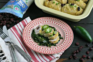 Cranberry, Jalapeño and Goat Cheese Stuffed Chicken Roulade