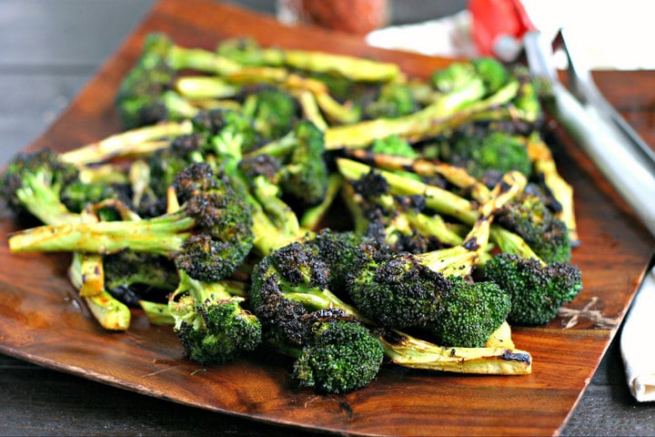 The best Grilled Broccoli from www.EverydayMaven.com