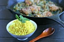 Turmeric Cauliflower Rice with Coconut from www.EverydayMaven.com