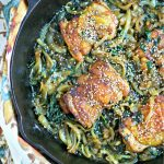 Sesame Chicken Skillet with Spinach and Onions from www.EverydayMaven.com