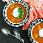 Instant Pot Vegetarian Red Lentil Soup with Butternut Squash from www.EverydayMaven.com