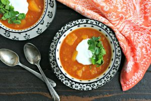 Instant Pot Red Lentil Soup with Butternut Squash