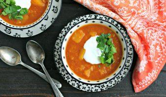 Instant Pot Red Lentil Soup with Butternut Squash
