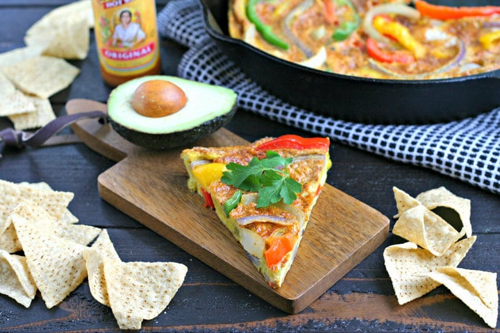 Vegetarian Fajita Frittata from www.EverydayMaven.com