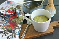 Low Carb and Sugar Free Matcha Mug Cake from www.EverydayMaven.com