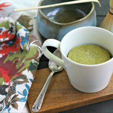 Low Carb Matcha Mug Cake
