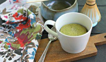 Low Carb Matcha Mug Cake