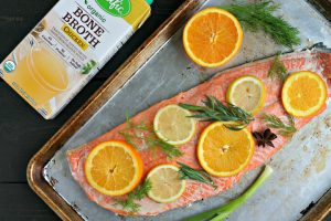 Citrus and Herb Oven Poached Salmon