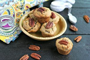 Mini Maple Pecan Banana Muffins {Dairy Free, Grain Free}