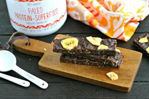Chocolate Banana Paleo Protein Bars