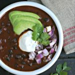 Instant Pot Black Bean Soup with Tomatoes from www.EverydayMaven.com