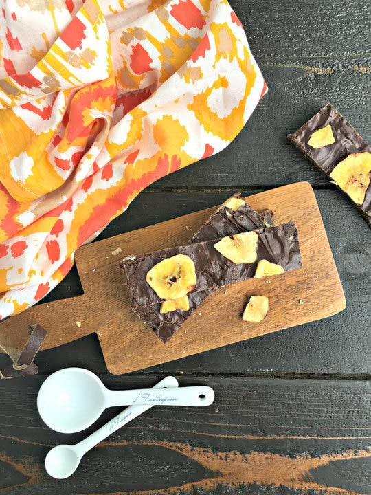 Chocolate Banana Paleo Protein Bars. from www.EverydayMaven.com