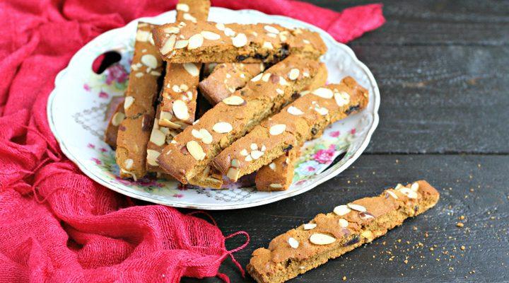 Cherry Almond Passover Biscotti