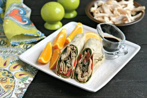 Gluten Free Balsamic Chicken Wraps