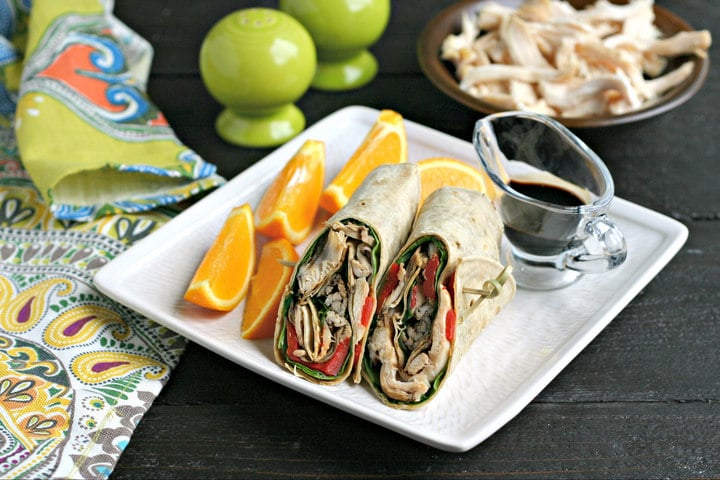 Gluten Free Balsamic Chicken Wraps from www.EverydayMaven.com