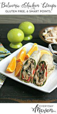 Gluten Free Balsamic Chicken Wraps from www.EverydayMaven.com