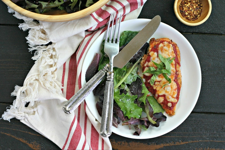 Low Carb Chicken Parmesan from www.EverydayMaven.com
