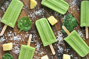 Green Piña Colada Popsicles