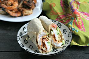 Mediterranean Grilled Shrimp Wraps