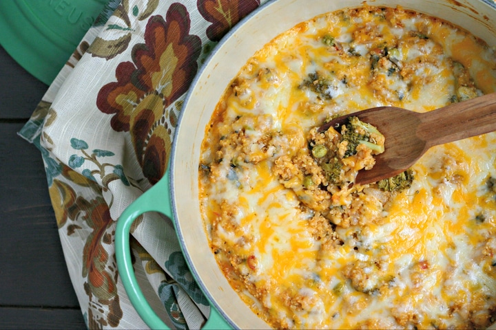 One Pot Cheesy Quinoa with Veggies from www.EverydayMaven.com